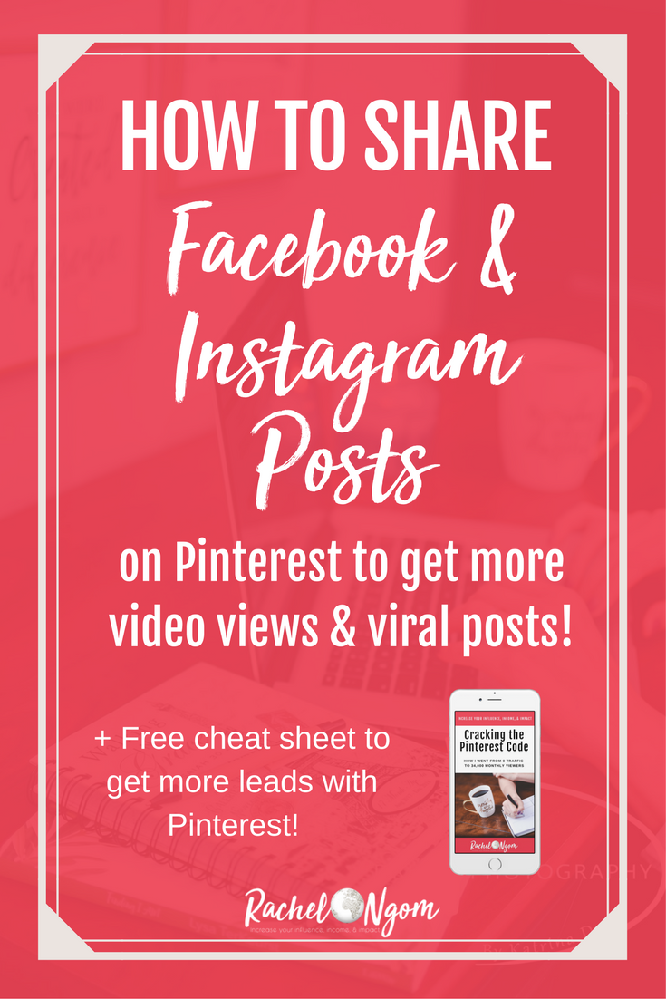 How to Share Instagram Pictures and Facebook Videos on Pinterest to
