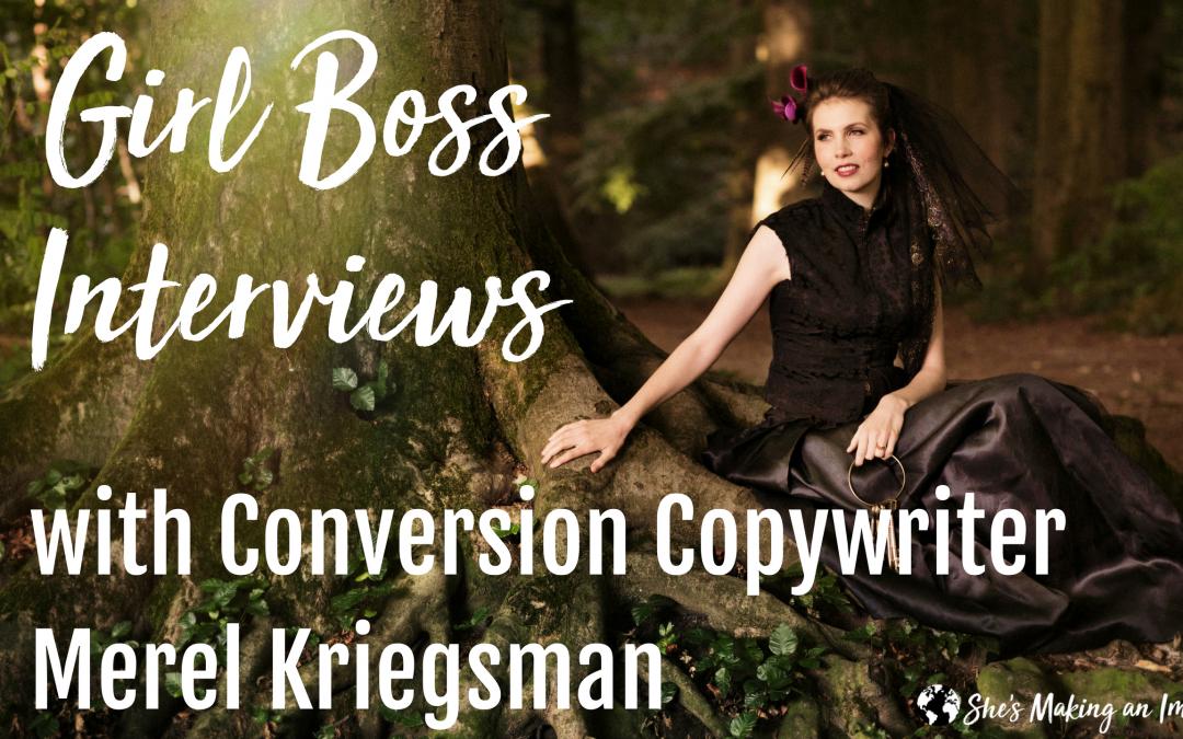 Live Interview with Conversion Copywriter Merel Kriegsman