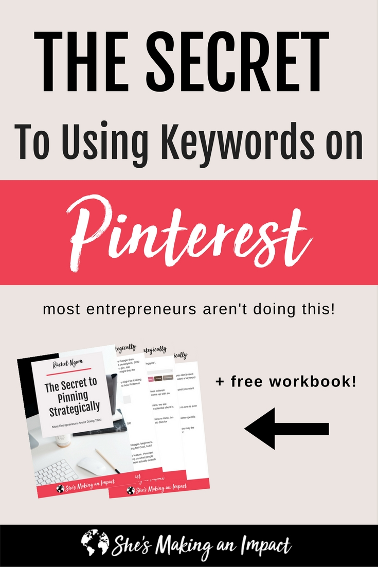 keywords on pinterest