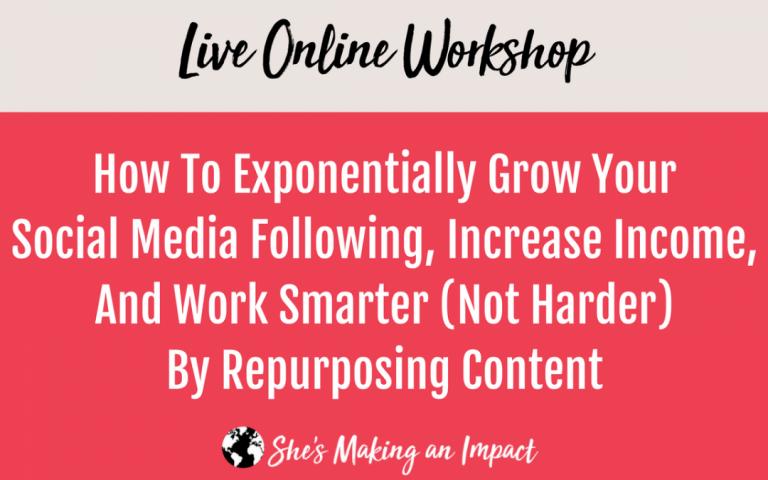 repurposing content workshop