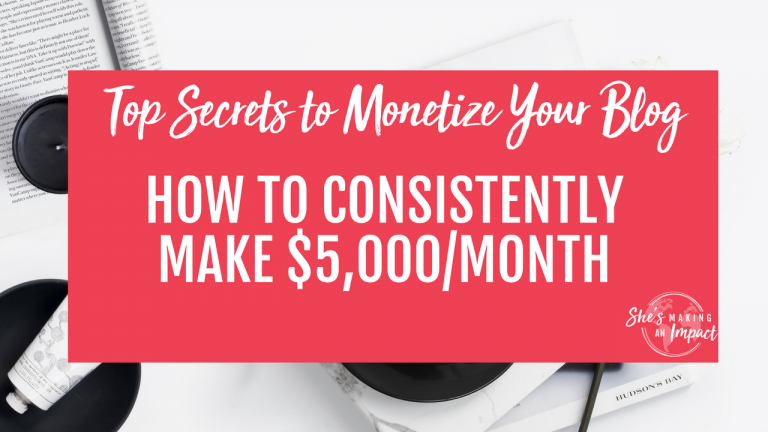 In this post, I'll share with you 5 ways you can monetize your blog so you can get to $5,000 per month! Repin and grab your free cheat sheet to get more leads using Pinterest! blogging tips, entrepreneur tips, online marketing tips, how to earn money online, blogging for beginners