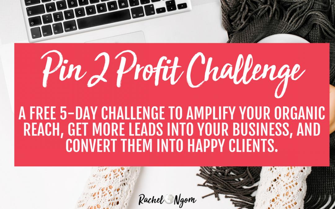 Free 5-Day Pin 2 Profit Challenge