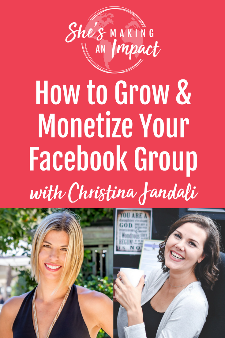 In this episode, you\'ll learn How to grow and monetize your Facebook Groups With Guest Christina Jandali. Repin and grab your free cheat sheet to get more leads with Pinterest!blogging tips, how to make money online, entrepreneur tips, how to grow a facebook group