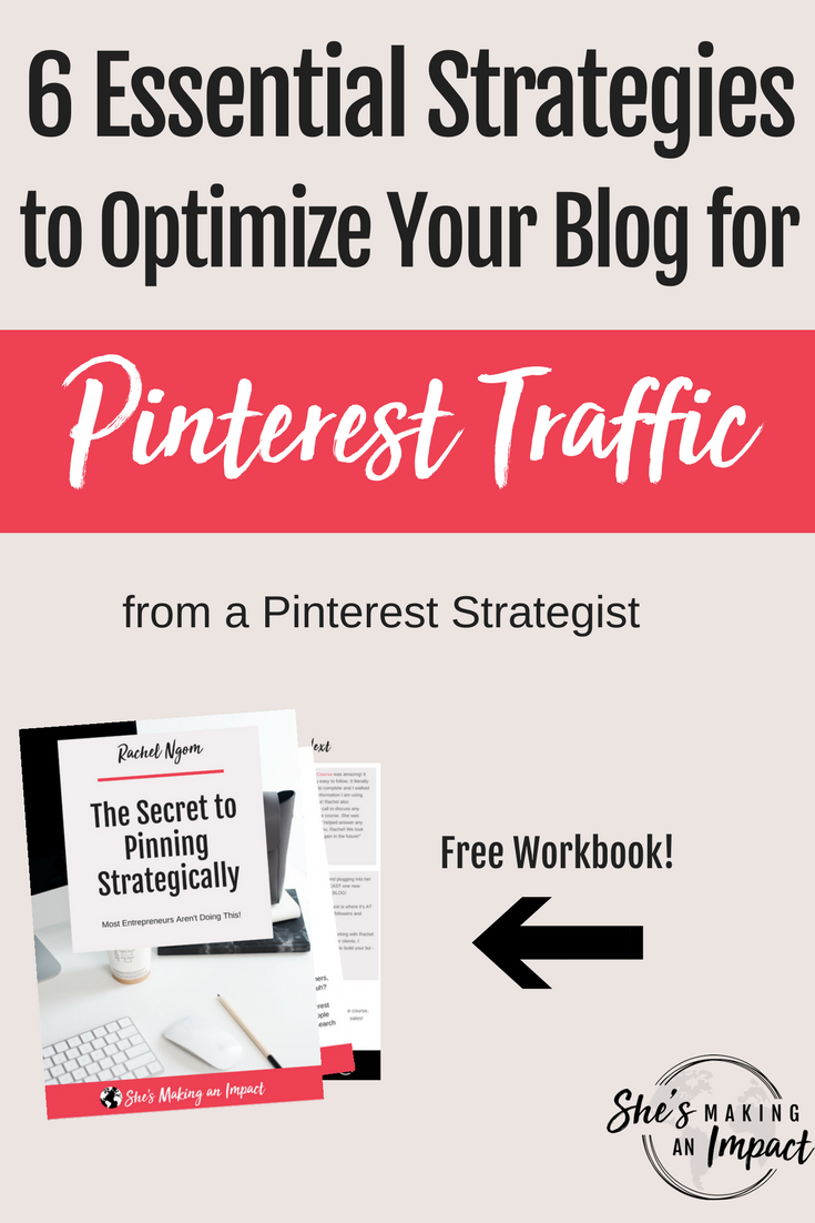 Want to learn how to optimize your blog for Pinterest traffic? You're in the right place! 