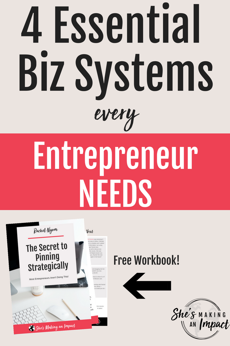 Today, let's talk time-saving business systems.You're busy right? It's really freaking hard to get a business off the ground, especially when there's SO MUCH TO DO and you're doing it ALL. #beenthereOver the past several years in business, I've created some epic time saving systems for my business and today, I wanted to share it all with you.These business systems save me tons of time to do other stuff…like create content…or go shopping in France =)Repin and grab my free cheat sheet to get more leads with Pinterest! #shesmakinganimpact #pinterest #blogging #entrepreneur #girlboss #entrepreneurtips #bloggingtips