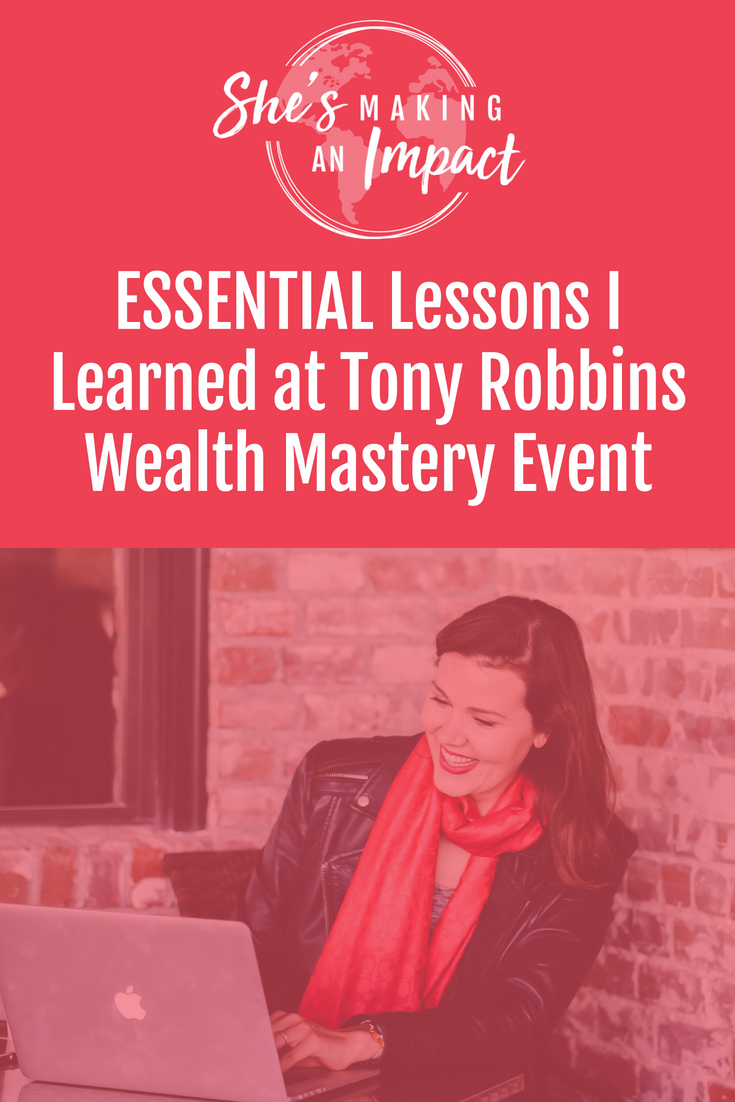 In this post, I share my experience at Tony Robbins event, Wealth Mastery. We talk money mindset, success, goals, quotes, and of course, what changes I'll make moving forward. If you've never been to a Tony Robbins event, you definitely need to go. Repin and grab my free cheat sheet to get more leads using Pinterest! #mindset #entrepreneur #girlboss #moneymindset