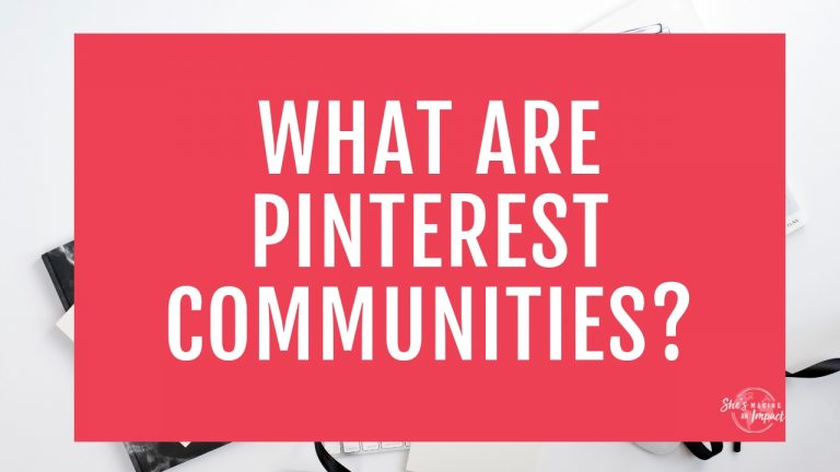 Have you heard of communities on pinterest? Wondering what a pinterest community is?? If you're serious about using pinterest for business, should you join a pinterest community, or even create a pinterest community of your own?? I'll dive deep into all of that in this post =) Repin and sign up for my free workshop on how to use pinterest to get more leads into your business =) #shesmakinganimpact #entrepreneur #entrepreneurtips #blogging #girlboss #bloggingtips #pinterestmarketing
