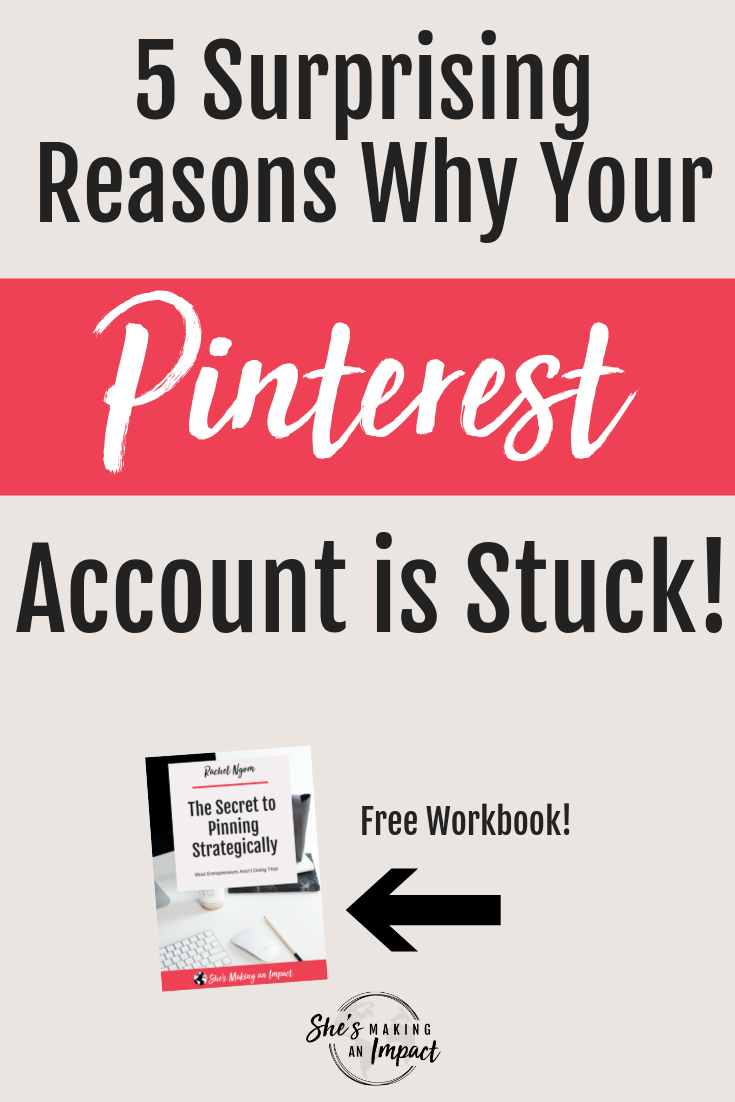 Want to learn how to use pinterest to grow your blog? If you're serious about using Pinterest for business, you need to see if you're making these common pinterest marketing mistakes...they are keeping you (and your pinterest account) stuck! Repin and grab my free pinterest marketing cheat sheet! #shesmakinganimpact #pinterest #onlinemarketing #blogging #bloggingtips #entrepreneur