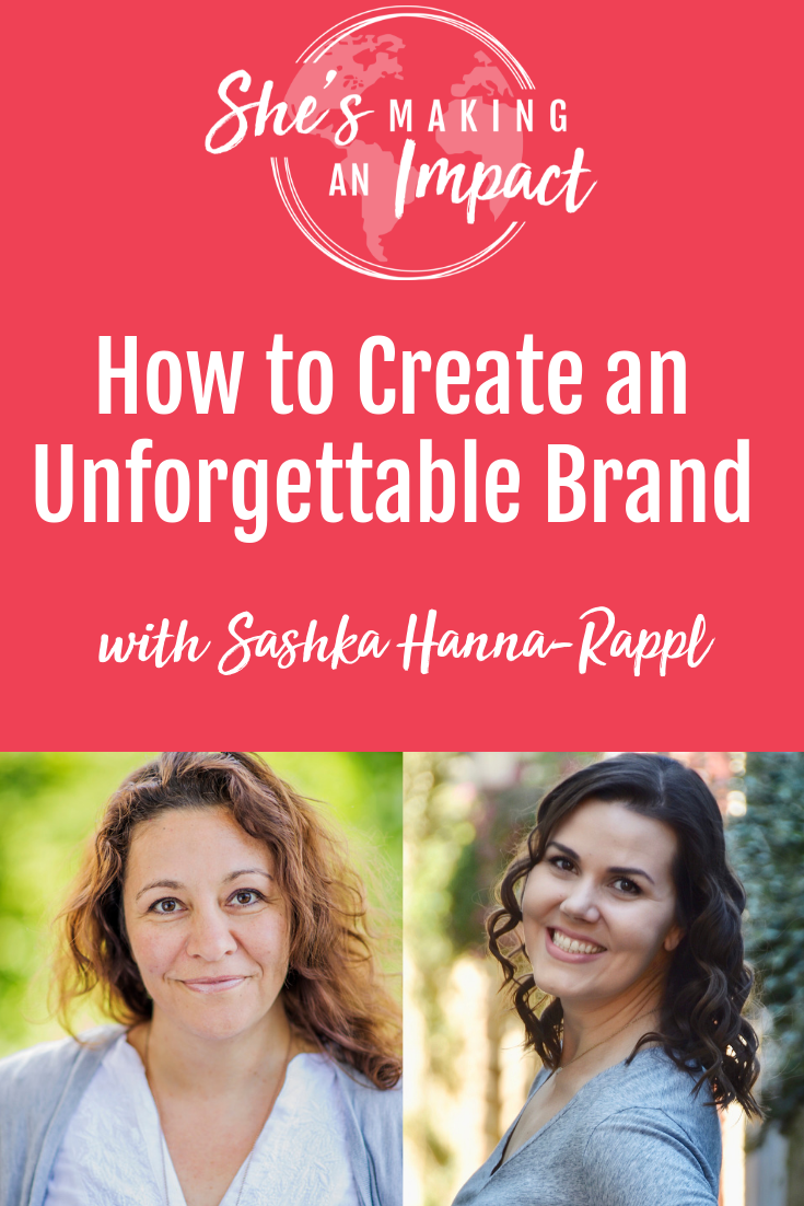 Are you an entrepreneur who wants to learn how to create a brand that's impossible to forget? In this episode of the She's Making an Impact podcast, we talk all things branding, from standing out on social media to marketing yourself and your business in a way to stands out. Repin and come listen to the episode! #shesmakinganimpact #branding #brandingtips #entrepreneur #entrepreneurtips
