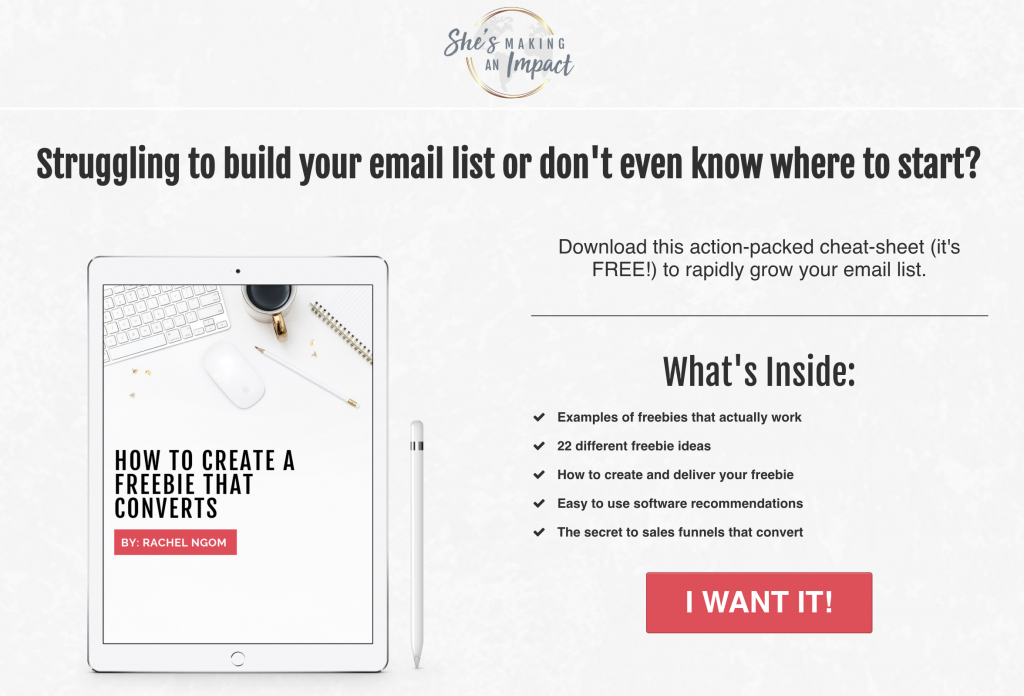 How to Start Building an Email List - Rachel Ngom