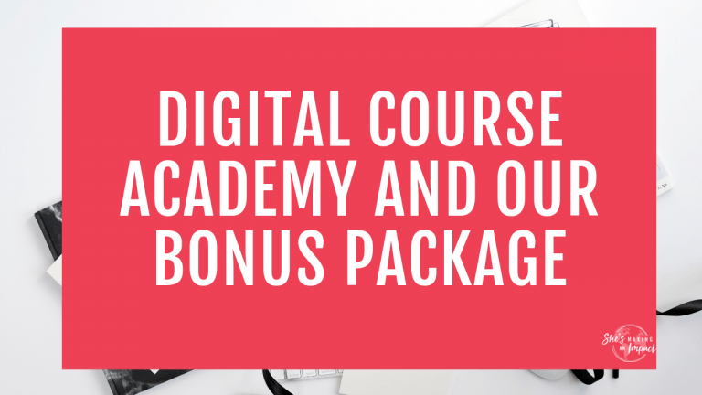 digital course academy and our bonus package