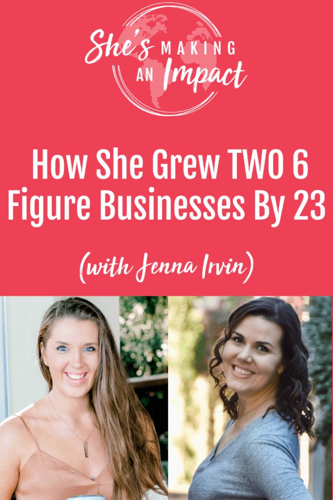Jenna opened and grew two businesses to the multi-six figure mark by the age of 23. She hired a team from scratch, learning the hard way that your intuition has to be the leader if you want to build a team you can trust to support your vision. She has lots of great tips for new entrepreneurs. Click to tune into this episode on She's Making An Impact. Repin and grab my free pinterest cheat sheet! #pinterestmarketing #socialmediamarketing #pinteresttips