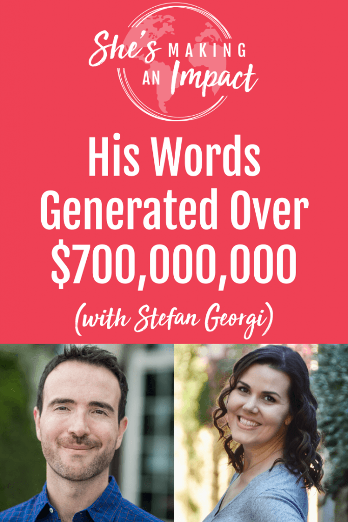 Stefan Paul Georgi is a direct response marketer and entrepreneur who's sold over $500 million worth of products online. He has a proven copywriting process and loves to share his strategies and best practices. Click to tune into this episode on She's Making An Impact. Repin and grab my free pinterest cheat sheet! #pinterestmarketing #socialmediamarketing #pinteresttips