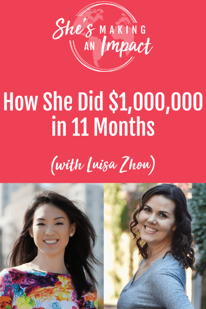 Luisa Zhou (JO) is the creator of the Employee to Entrepreneur system, which teaches people how to leave their day job and start their own six-figure plus business working for themselves. We talk about how long it takes to be successful, where to find clients, fear as an entrepreneur, and lots more! Click to tune into this episode on She's Making An Impact. Repin and grab my free pinterest cheat sheet! #pinterestmarketing #socialmediamarketing #pinteresttips