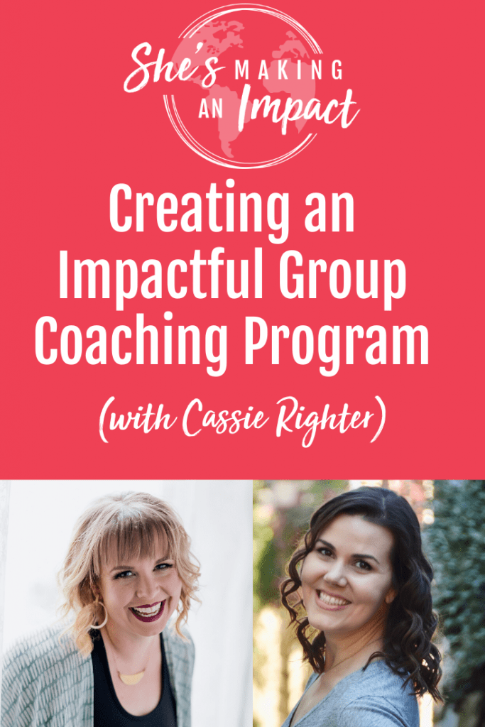 Cassie Righter is a Client Results Expert who uses her unique expertise help you build your brand and become an expert in your niche. She talks about How to Create an Impactful Group Coaching Program, why group coaching is beneficial, and lots more. Click to listen to the full interview. Repin and grab my free cheat sheet to get more leads for free using Pinterest! #shesmakinganimpact #entrepreneur #entrepreneurtips #girlboss
