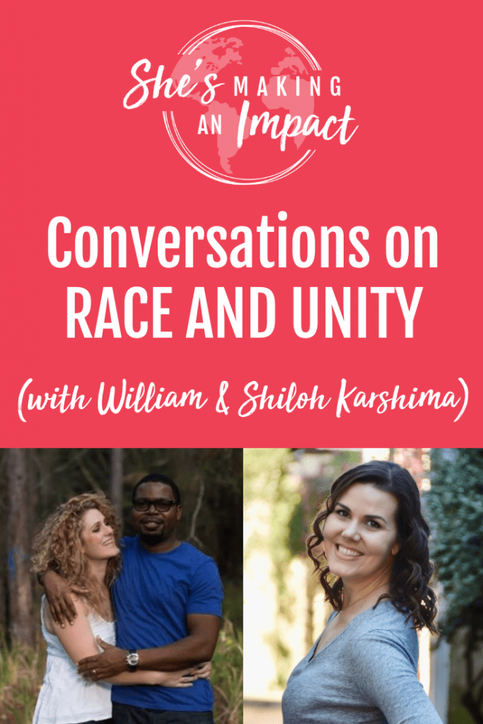 We need to learn how to appreciate one another now, there is no putting it off. The idea of peace and unity in heaven cannot exist there if we don't start it here on Earth. I'm talking to William and Shiloh Karshima all about RACE and UNITY. What can WE DO in this time, and action steps to actually make a difference. Click to listen to the full episode on the She's Making An Impact podcast!