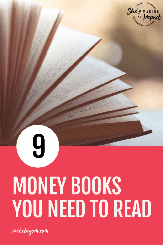 Do you want to be debt free, automate your investments, and overall have a positive money mindset? On this episode, I'm sharing 9 MONEY books you need to read. I have learned so much about money from these books, and thought I would share my biggest takeaways. Repin and grab my free cheat sheet to get more leads for free using Pinterest! #shesmakinganimpact #entrepreneur #entrepreneurtips #girlboss #onlinebusiness #facebook
