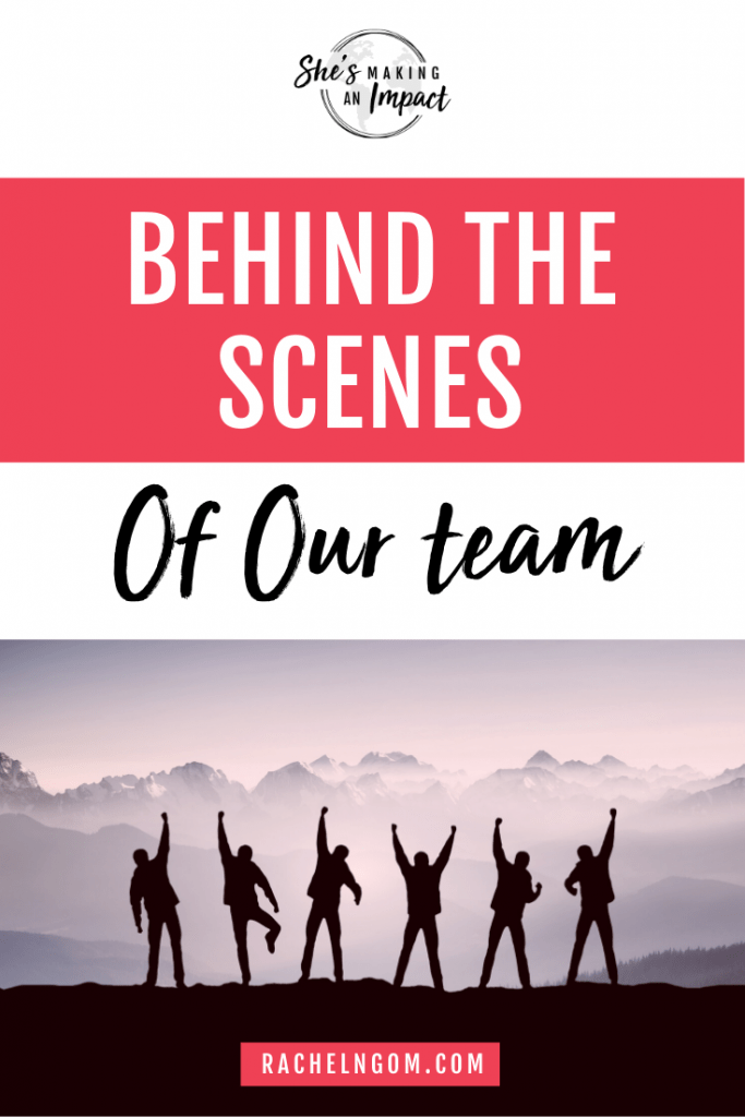 When you have a team around you, it gives you a lot more freedom and flexibility running your business. This episode is all about the importance of having a team. I'm giving you a behind the scenes look at the people on my team, what they do, and how I expanded from being a solo-preneur to where we are now!  Repin and grab my free cheat sheet to get more leads for free using Pinterest! #shesmakinganimpact #entrepreneur #entrepreneurtips #girlboss #onlinebusiness #facebook